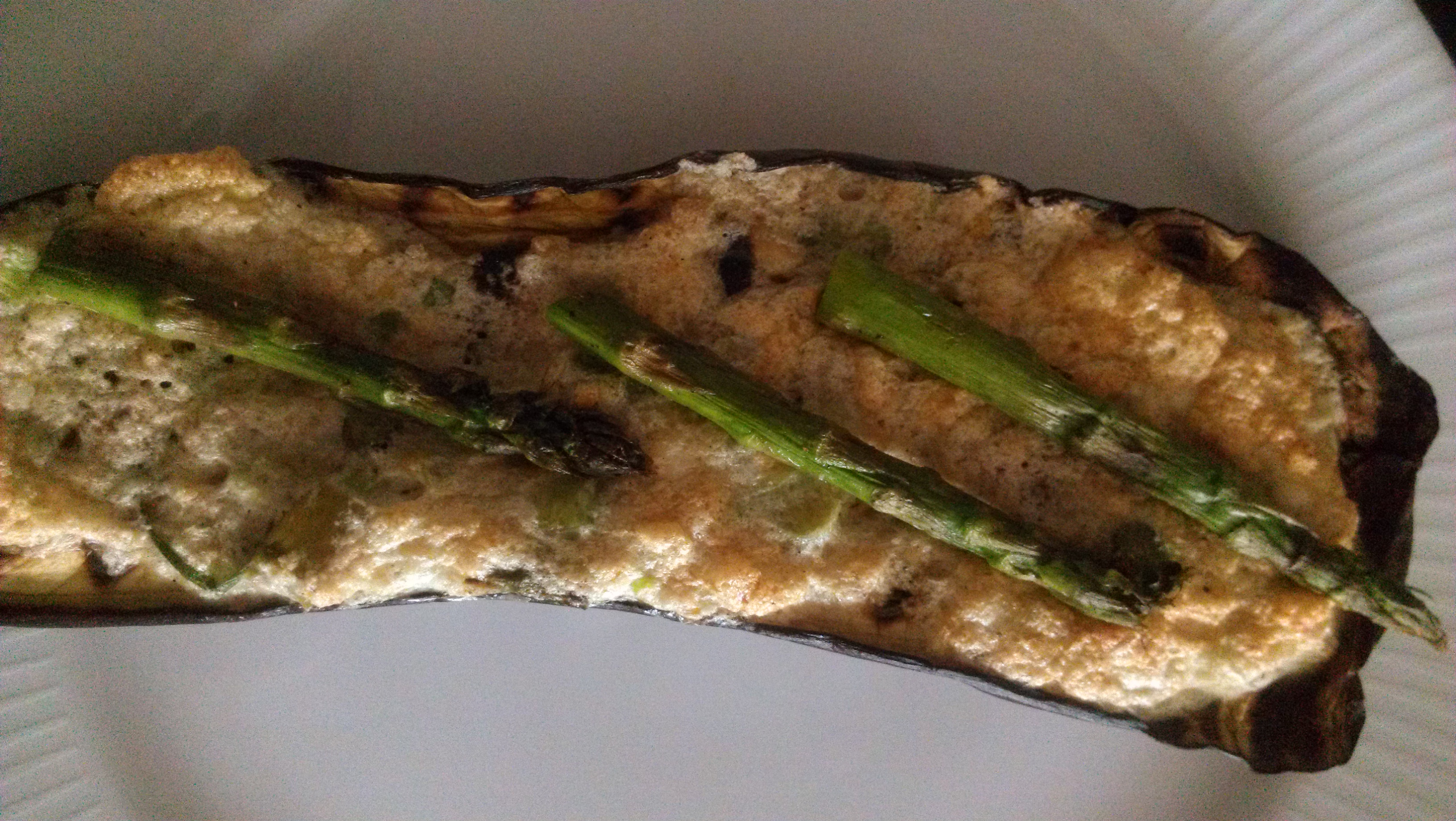 Eggplant-Souffle-with-Grilled-asparagus