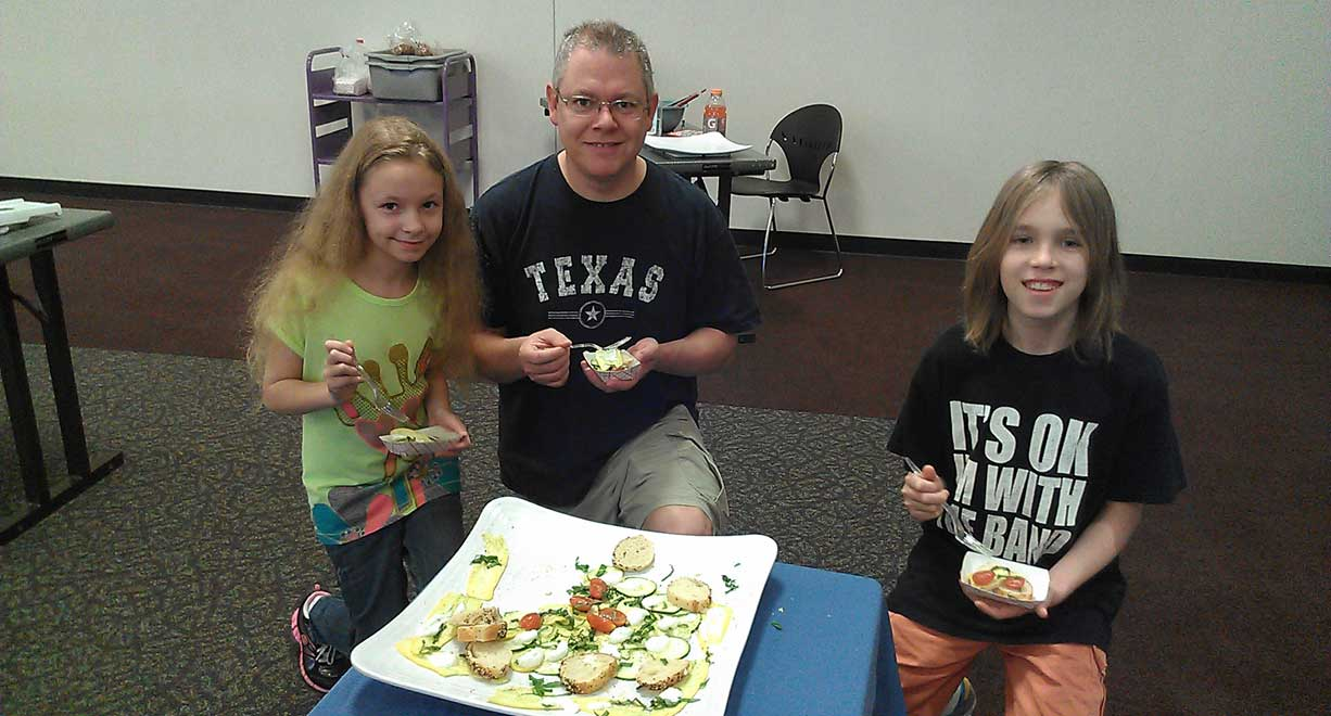 This family loved our zucchini carpaccio