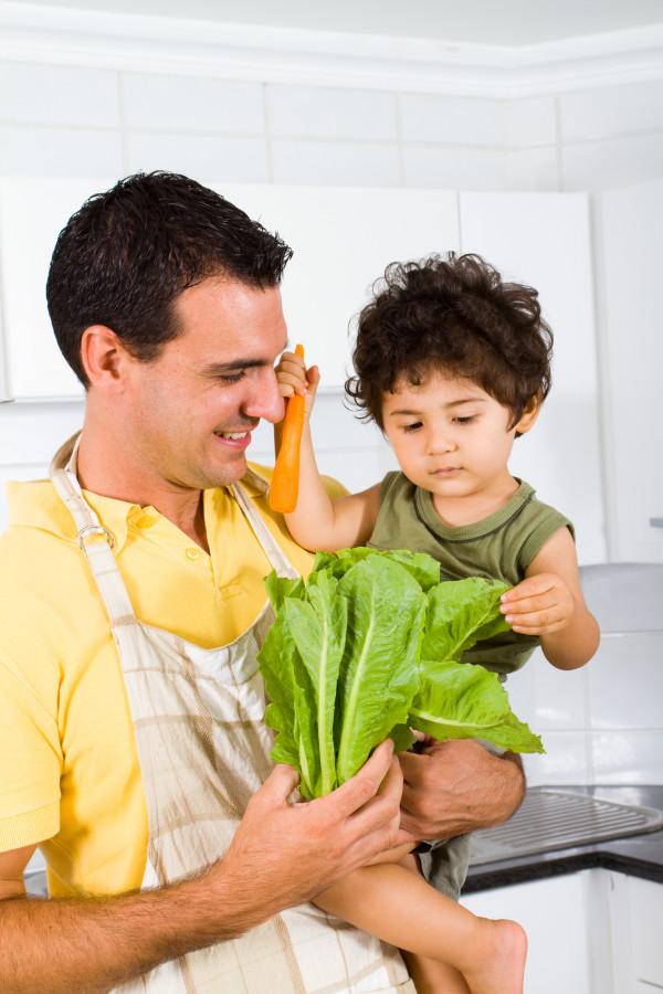 Food Literacy - Dad teaching boy
