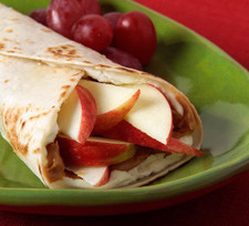 Apple Peanut Butter Wraps