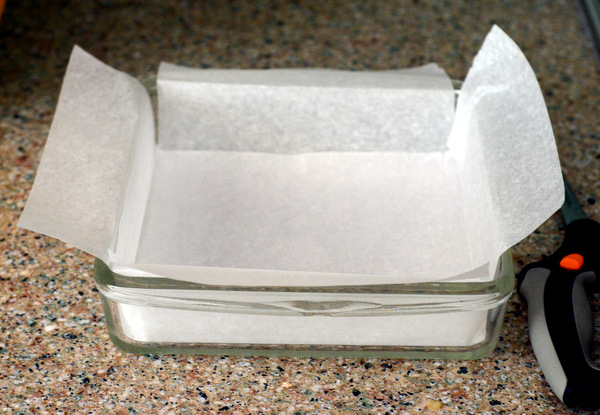 Baking properly lined pan