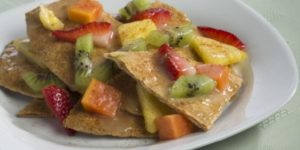 Nachos with Fresh Fruit