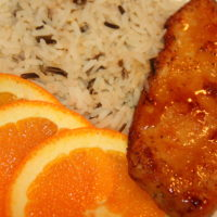 Baked Chicken with Orange Apricot Glaze