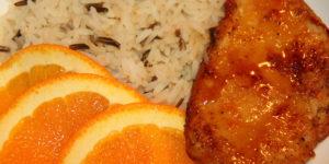 Baked Chicken with Orange Apricot Glaze